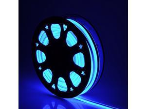50ft Double Sided SMD2835 LED Bulb Flexible Neon Stripe Light DIY Blue Decor Lighting