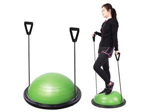 Yoga Exericse Balance Trainer Step Ball 59cm w/ Strings & Pump Green