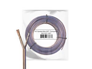 Car Home Audio Speaker Wire 16 Gauge Bulk Audio Speaker Cable Transparent 50 ft