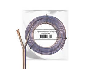 Car Home Audio Speaker Wire 12 Gauge Bulk Audio Speaker Cable Transparent 50 ft