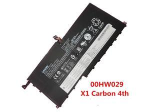 Genuine Battery 00HW029 00HW028 For Lenovo ThinkPad X1 Yoga Gen 1 Carbon 4TH