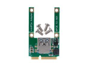 1 Set Mini PCI-E PCI-Express Card To USB 2.0 Male Converter Adapter Card USB 2.0 to Mini PCI E Adapter Converter With Screws