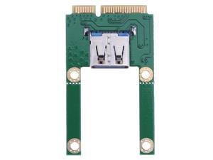 ALLOYSEED Laptop Mini PCI-E To USB Adapter Expansion Card PCI Express Slot To USB 2.0 Interface Converter Adapter Riser Cards