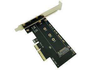 Socket M key M.2 NVMe SSD to PCIe Adapter Card Support PCI Express 3.0 x4 2230 2242 2260 2280 Size M.2 SSD FULL SPEED Riser Card