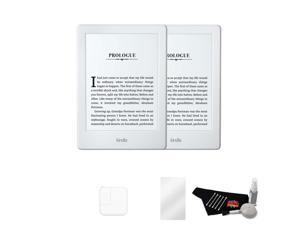 "Kindle Paperwhite 6"" eReader (White, 2015 Version) Master Accessory Bundle w/ 2 Kindles + More"