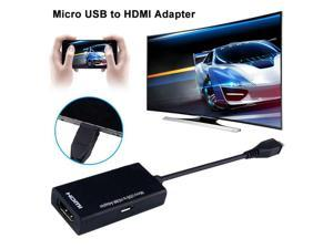 Micro USB to HDMI HD Adapter Cable Male to Female High Speed HDTV HDMI Adapter Converter Audio Cables for TV Phone Computer DF