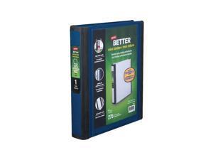 Staples Better Mini 1-Inch D 3-Ring View Binder Blue (20942) 924443