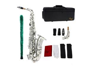Saxophone Sax Eb Be Alto E Flat Plastic Mouthpiece with Gloves Brush Straps N3P0
