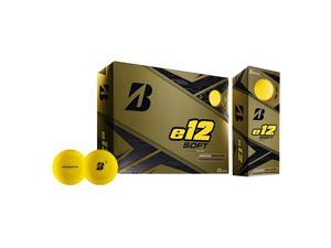 Bridgestone Golf Co. E12 Soft (MATTE YELLOW) Golf Balls