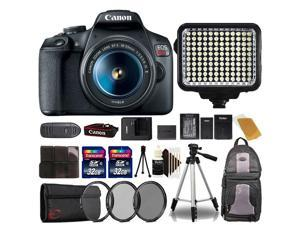 Canon EOS Rebel T7 DSLR Camera with 18-55mm Lens + Two 32GB Accessory Kit