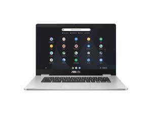"""Asus Chromebook C523NA-IH44F 15.6"""" 4GB 64GB Intel Celeron N3350 X2 1.1GHz Chrome OS, Silver"""