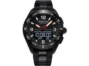 Alpina AL-283LBB5AQ6B Men's AlpinerX HSW Bracelet Smartwatch, Black