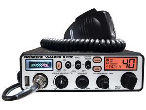 President Electronics - WALKER II - President - Walker Ii 40 Channel Cb Radio With Brushed Aluminum Panel, 7 Back Light