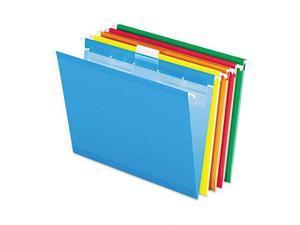 Pendaflex Colored Reinforced Hanging Folders 1/5 Tab Letter Asst 25/Box 42592