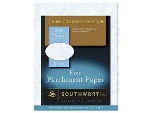 Southworth Parchment Specialty Paper Blue 24lb 8 1/2 x 11 100 Sheets P964CK336