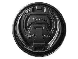 SOLO CUPS Optima Reclosable Lids for Paper Hot Cups for 10-24 oz Cups Black 1000