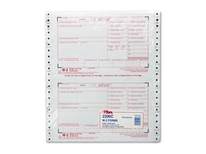W-2 Tax Forms 6-Part Carbonless 8 1/2 x 5 1/2 24 W-2s & 1 W-3