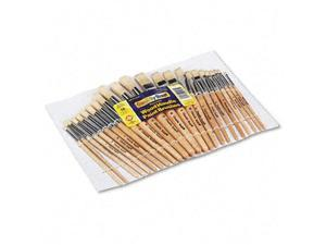 Chenille Kraft Preschool Brush Set Sizes 1-12 Natural Bristle Flat; Round 24/Set