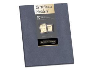 Certificate Holder, Gray, 105 lb Linen Stock, 12 x 9.5, 10/Pack 98869