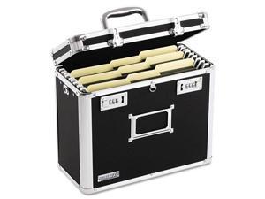 Vaultz Locking File Tote Storage Box Letter 13-3/4 x 7-1/4 x 12-1/4 Black