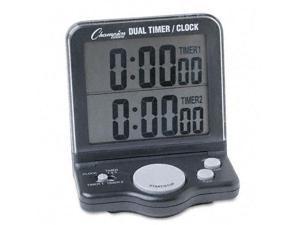 Champion Sports Dual Timer/Clock w/Jumbo Display LCD 3 1/2 x 1 x 4 1/2 DC100
