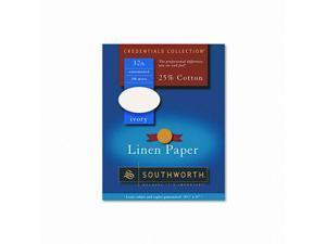 Southworth Company SOUJ568C Fine Linen Paper- 32 lb- 8-.50in.x11in.- 2- Ivory