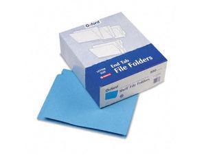 Pendaflex Reinforced End Tab Folders Two Ply Tab Letter Blue  100/Box H110DBL
