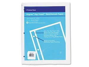 "Rediform 20121 National Heavyweight Reinforced Filler Paper 100 Sheet - Letter 8.50"" x 11"" - 100 / Pack - White Paper"