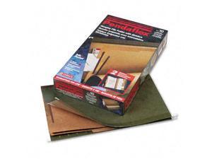 Pendaflex SureHook Reinforced Hanging Folder 2 Divider Legal 1/5 Tab Green 10