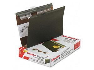 "Ready-Tab Hanging File Folders 2"" Capacity 1/6 Tab Legal Green 20/Box"