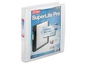 """Cardinal SuperLife Pro Easy-Open ClearVue Locking Slant-D Binder 1"""" 11 x 8 1/2"""