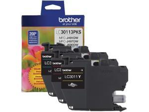 Brother LC30113PKS Ink Cartridge - Combo Pack - Cyan/Magenta/Yellow