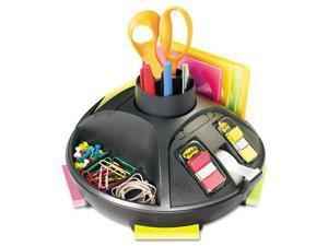 "3M Rotary Self-Stick Notes Dispenser Plastic Rotary 10"" diameter x 6h Black C91"