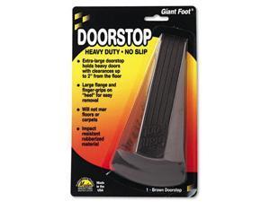 Giant Foot Doorstop, No-Slip Rubber Wedge, 3.5w x 6.75d x 2h, Brown 00964