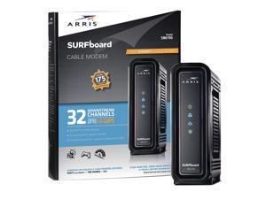 ARRIS SURFboard SB6190 BLK DOCSIS 3.0 Cable Modem - Retail Packaging - Black