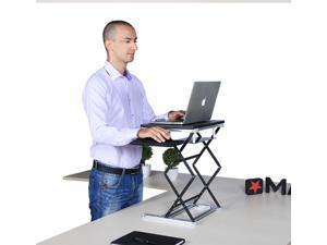 OS5 Ergonomic Laptop Stand & Standing Desk Converter Affordable Sit-Stand up Desktop Riser Conversion Topper  Adjustable Height Tilt