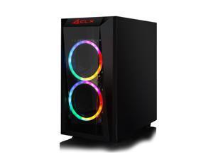 CLX SET Gaming Desktop - AMD Ryzen 5 3600 3.6GHz 6-Core Processor, 16GB DDR4 Memory, GeForce RTX 3060 Ti 8GB GDDR6 Graphics, 240GB SSD, 2TB HDD, WiFi, Windows 10 Home 64-bit