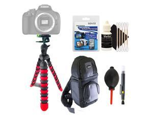 Flexible Tripod + Lens Pen + Dust Blower + Universal Screen Protector + DSLR Backpack + 3pc Cleaning Kit