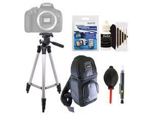 Tall Tripod + Lens Pen + Dust Blower + Universal Screen Protector + DSLR Backpack + 3pc Cleaning Kit