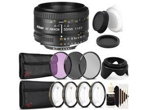 Made by Optics 82mm Multi-Threaded Nikon D700 High Grade Multi-Coated 3 Piece Lens Filter Kit Nwv Direct Microfiber Cleaning Cloth.