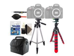 Tall and Flexible Tripod + Lens Pen + Dust Blower + Universal Screen Protector + Gadget Bag + 3pc Cleaning Kit