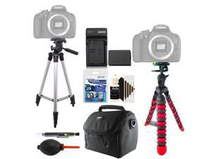 Tall + Flexible Tripod + Replacement for LP-E10 Battery + Lens Pen + Dust Blower + Universal Screen Protector + Gadget Bag + 3pc Cleaning Kit