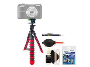 Flexible Tripod + Screen Protector + Lens Pen + Dust Blower + 3pc Cleaning Kit