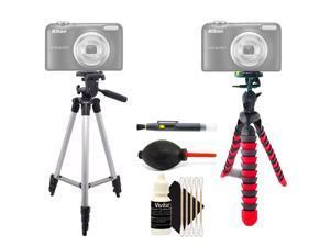 Tall Tripod + Flexible Tripod + Lens Pen + Dust Blower + 3pc Cleaning Kit