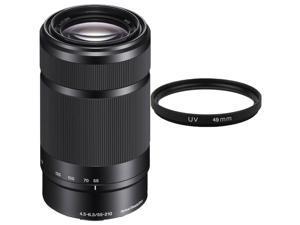 Sony 55-210mm F4.5-6.3 OSS E-Mount Telephoto Lens DSLR Cameras (Black)