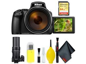 Nikon COOLPIX P1000 Digital Camera + 64GB Sandisk Extreme Memory Card Base Kit Intl Model
