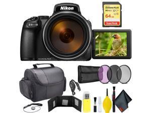 Nikon COOLPIX P1000 Digital Camera + 64GB Sandisk Extreme Memory Card Travel Kit Intl Model