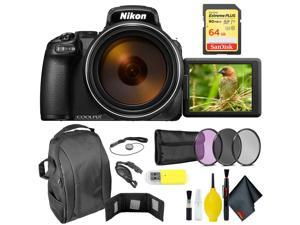 Nikon COOLPIX P1000 Digital Camera + 64GB Sandisk Extreme Memory Card Extreme Kit Intl Model