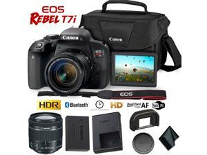 Bundle Includes Canon 200ES Camera Shoulder Bag for Canon EOS Rebel T6 T7 T5i T6i T7i EOS 90D 80D 70D 6D EOS Sl3 sl2 M50 58mm Lens Cap 9320A023 5-Piece Cleaning Kit Screen Protectors