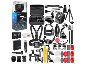 GoPro HERO 7 Black -  With 64GB Micro Sd Card and 50 Piece Accessory Kit - Fully Loaded Bundle
